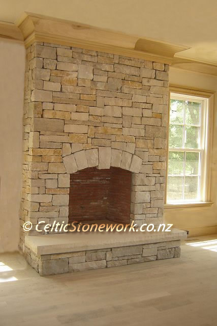 Stone Fireplace, Lime Stone