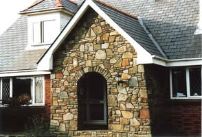 Blue Pennant Stone with Welsh slate roof tiles Cross Hands West Wales