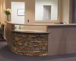 Highfield community centre reception area - Alexandra Brown & Poolburn mix