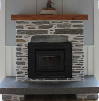 Gibston Grey Schist with an antique white pointing - old farm house style - Scott Road, Karapiro
