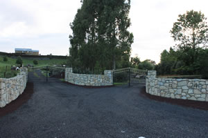 Lime stone entrance way on Te Pahu Road by Pirongia Mountain. Lime stone from my private Waikato Quarry