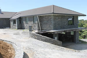 New Plymouth stone work job - using Gibston Grey Schist